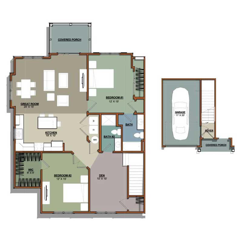 Painters Mill Apartments: 2 Bedroom Plus Den 2 Bath